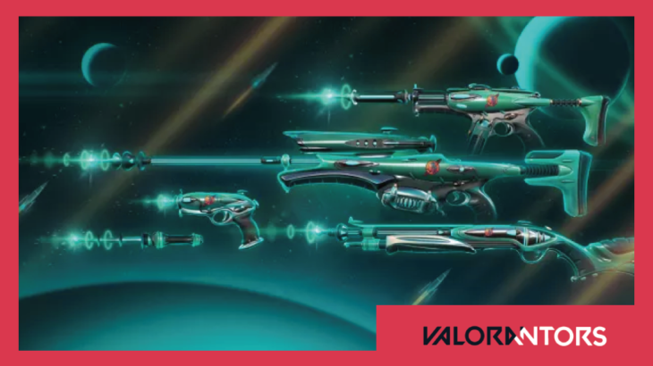 【VALORANT】新スキン「G.U.Nコレクション」の詳細映像とラインナップが公開!一昔前のSFを彷彿とさせるデザインスキン