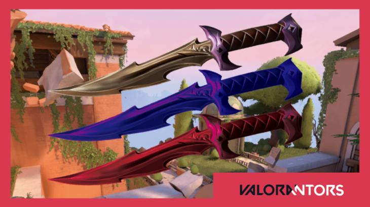 【VALORANT】次回販売予定のスキンでは近接武器(ナイフ)にカラーバリエーションが来るかも?